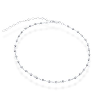 La Preciosa Sterling Silver Diamond-cut Beaded Choker