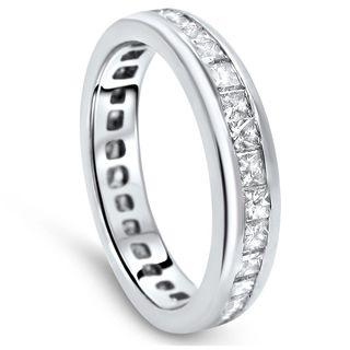 Size 5.5 Noori Platinum 1 1/2ct TDW Princess-cut Diamond Wedding Band Ring (G-H, SI1-SI2)