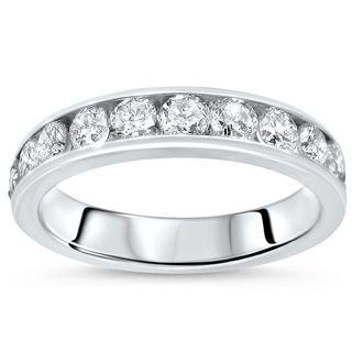 Noori 14k White Gold 1ct TDW Round Diamond Wedding Band (G-H, SI2-I1)