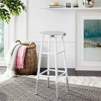 Safavieh 30 -inch Kenzie Silver Dipped White / Silver Barstool