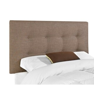 Made to Order Klaussner Furniture Duncan Brown Wood and Polyester Upholstered Queen-size Headboard