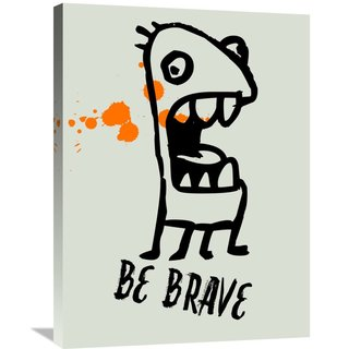 Naxart Studio 'Be Brave Poster 1' Stretched Canvas Wall Art