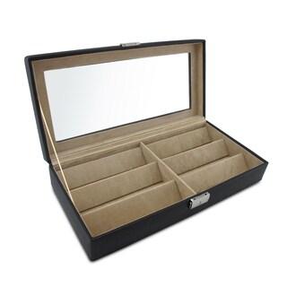 Morelle Black Leather Eyeglasses Case