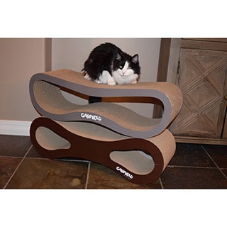 Garfield Bone Grey Cardboard Cat Scratcher/Lounger