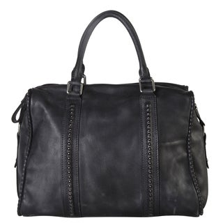 Diophy Genuine Leather Distressed Doctor-style Tote Bag