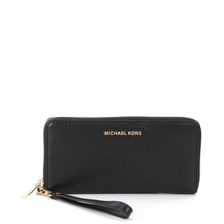 Michael Kors Bedford Travel Continental Black Wristlet