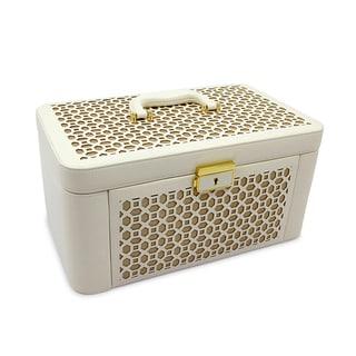 Morelle Elizabeth Large Leather Illuminated Jewelry Box