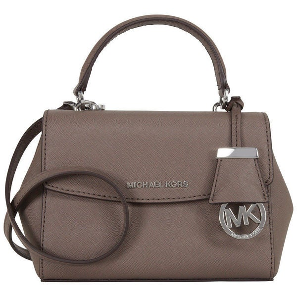 d490b9d3ded1 Shop Michael Kors Ava Cinder Leather Crossbody Satchel - Free ...