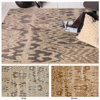 """Artist's Loom Hand-Tufted Contemporary Ikat Pattern Rug (5'x7'6"""")"""
