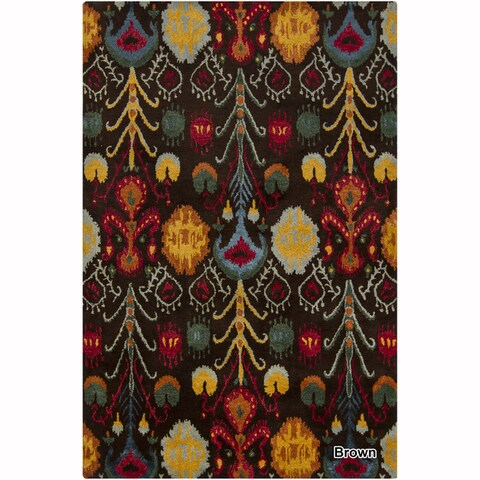 "Artist's Loom Hand-Tufted Contemporary Ikat Pattern Rug (5'x7'6"") - 5'x7'6"""