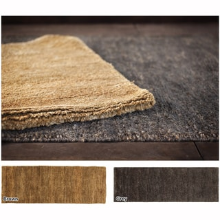 """Artist's Loom Hand-Woven Contemporary Solid Pattern Jute Rug (5'x7'6"""")"""
