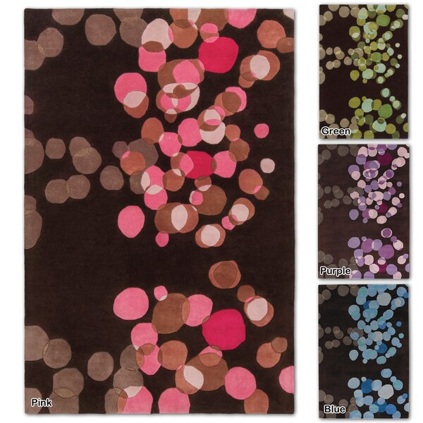 "Artist's Loom Hand-Tufted Contemporary Geometric Pattern New Zealand Wool Rug (5'x7'6"") - 5' x 7'6"