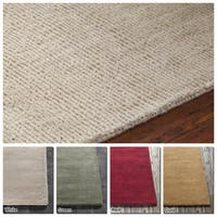 "Artist's Loom Hand-Tufted Casual Solid Pattern New Zealand Wool Rug (5'x7'6"") - 5'x7'6"""