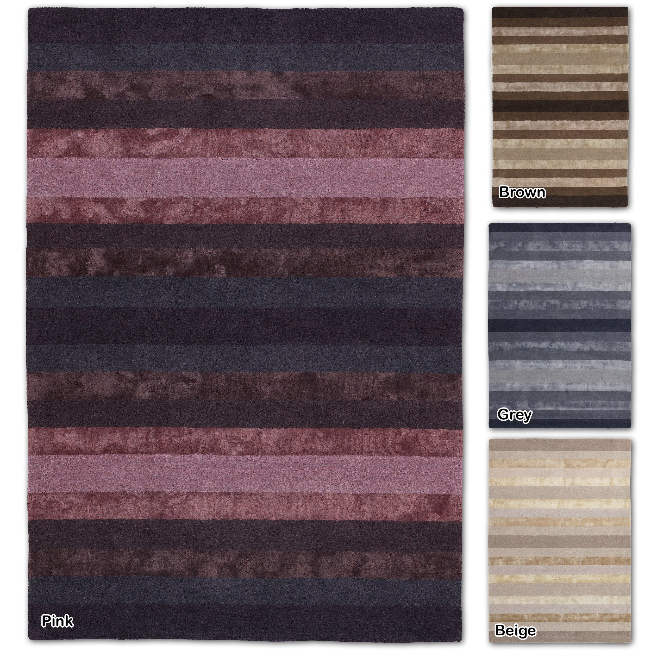 Artists Loom Hand-Tufted Contemporary Solid Pattern Rug (5x76) - 5 x 76 (Beige)