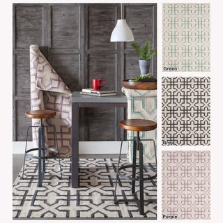 Artist's Loom Flatweave Contemporary Geometric Pattern Wool Rug (5'x7')