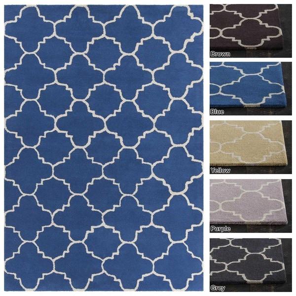 Artist's Loom Hand-Tufted Contemporary Geometric Pattern Wool Rug (5'x7') - 5' x 7'