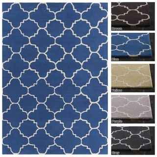 Artist's Loom Hand-Tufted Contemporary Geometric Pattern Wool Rug (5'x7')