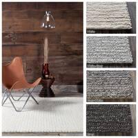 "Artist's Loom Hand-Woven Casual Shag Rug (5'x7'6"")"