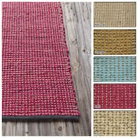 "Artist's Loom Flatweave Contemporary Solid Pattern Jute Rug (5'x7'6"")"