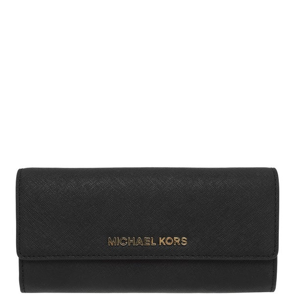 339ead054d04 Shop Michael Kors Jet Set Travel Black Large Gusseted Carry-all ...