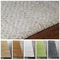 "Artist's Loom Hand-Woven Contemporary Solid Pattern Shag Rug (5'x7'6"")"