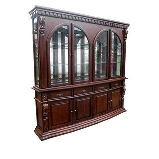 Handmade D-Art Sheraton Mahogany China Hutch Cabinet (Indonesia)