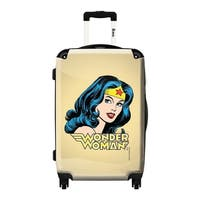 iKase Wonder Woman Logo Khaki  ,Carry-on 20-inch,Hardside, Spinner Suitcase