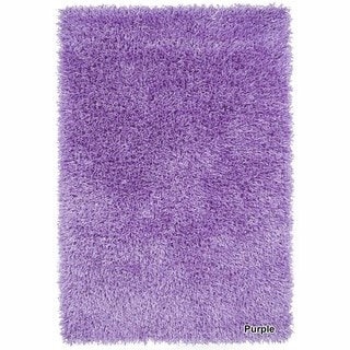Artists Loom Hand-Woven Contemporary Solid Pattern Shag Rug (9x13) (Purple - (9 ft. x 13 ft. ))