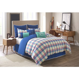 southern tide prep school plaid 4piece comforter set