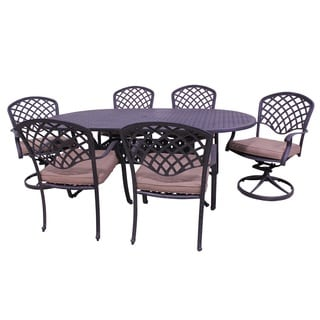 """Barcelona 7-Piece Dining Set with 84"""" Oval Table"""