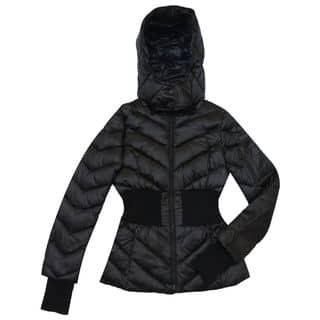 BCBG Max Azria Women's Emilia Black Puffer Coat|https://ak1.ostkcdn.com/images/products/13372546/P20071932.jpg?impolicy=medium