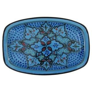 Le Souk Ceramique Sabrine Design Rectangular Stoneware Platter (Tunisia)