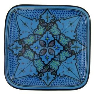 Le Souk Ceramique Sabrine Design Square Stoneware Platter (Tunisia)