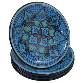 Le Souk Ceramique Set of 4 Sabrine Design Stoneware Pasta/Salad Bowls (Tunisia)