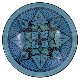 Le Souk Ceramique Sabrine Design Large Stoneware Serving Bowl (Tunisia)