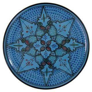 Le Souk Ceramique Sabrine Design Round Stoneware Platter (Tunisia)