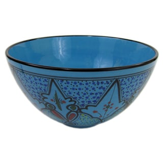 Le Souk Ceramique Sabrine Design Deep Stoneware Serving Bowl (Tunisia)