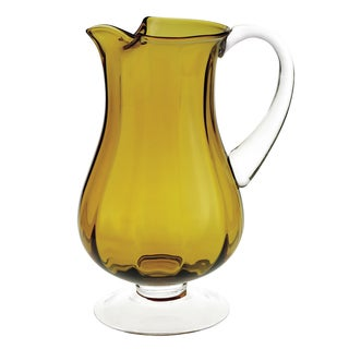 Badash Impressions Amber Optic Glass 54-ounce Pitcher
