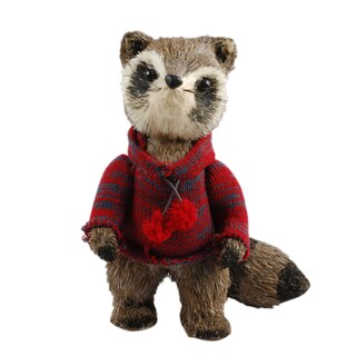 Fabric 11.5-inch Decorative Christmas Raccoon