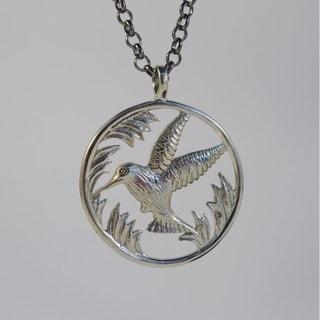 Hummingbird Spirit Pendant Necklace (Bali)