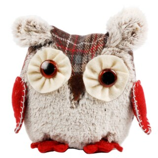 Fabric Decorative 5-inch Christmas Owl