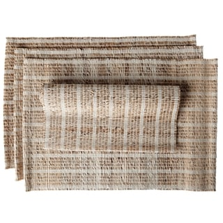 Ashi Set of 4 Banana Bark Fiber Hand Woven Placemats (India)