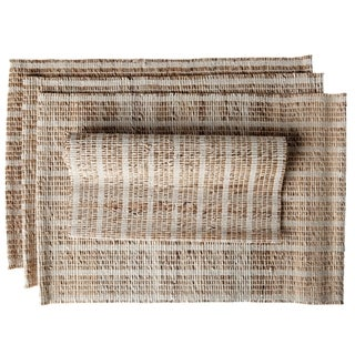 Ashi Set of 4 Banana Bark Fiber Handmade Placemats (India)