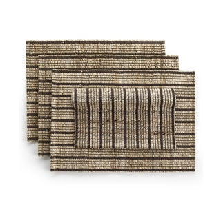 Hannah Set of 4 Banana Bark Fiber Hand-Woven Place Mats (India)