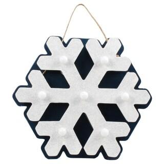 Illuminated Metal Indoor Hanging Snowflake