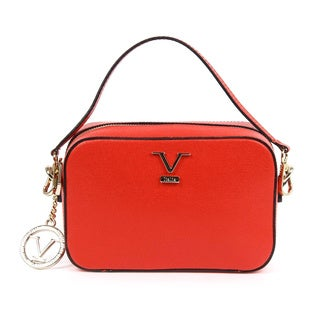 Versace1969 V Italia Leather Red Crossbody Bag
