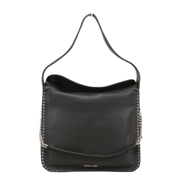 ecb5de051 Shop Michael Kors Astor Large Black Leather Hobo Handbag - Free ...