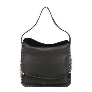 Michael Kors Astor Large Black Leather Hobo Handbag