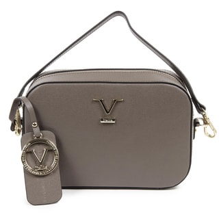Versace 1969 V Italia Leather Taupe Crossbody Bag