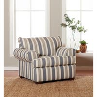 Shop Milari Linen Maple Striped Accent Chair On Sale
